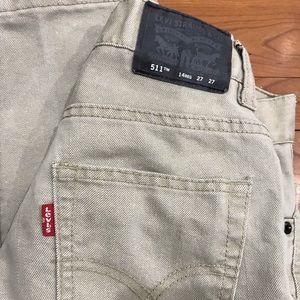 Boy's khaki jeans